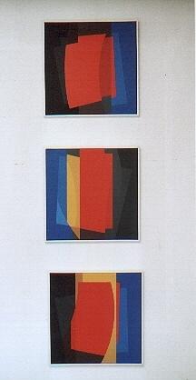 nr.2002-d, drieluik, ieder 40x40cm.