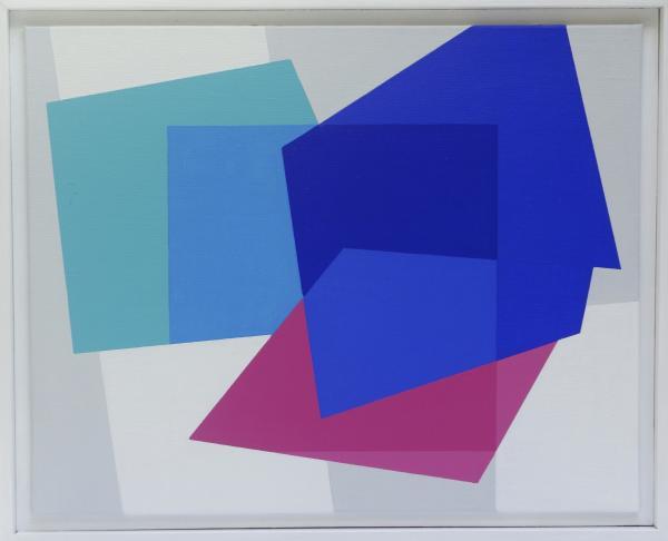 compositie zonder titel, nr. 2014-4, 30 x 40 cm.