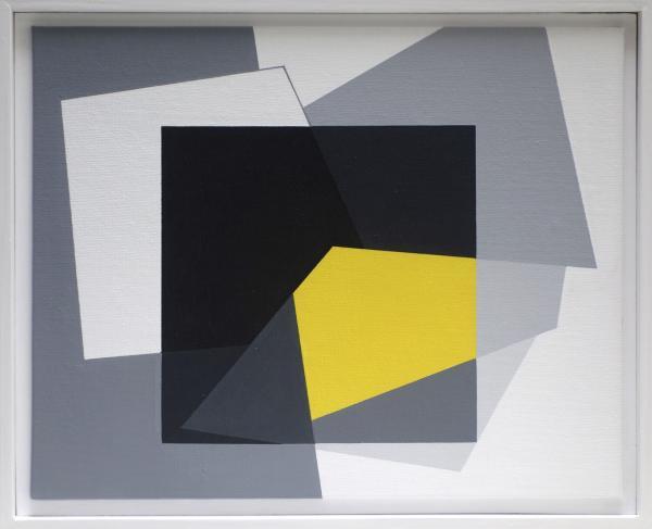compositie zonder titel, nr. 2014-5, 30 x 40 cm.