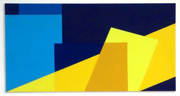 compositie zonder titel  nr. 2014-6, 19,7 x 10 cm.