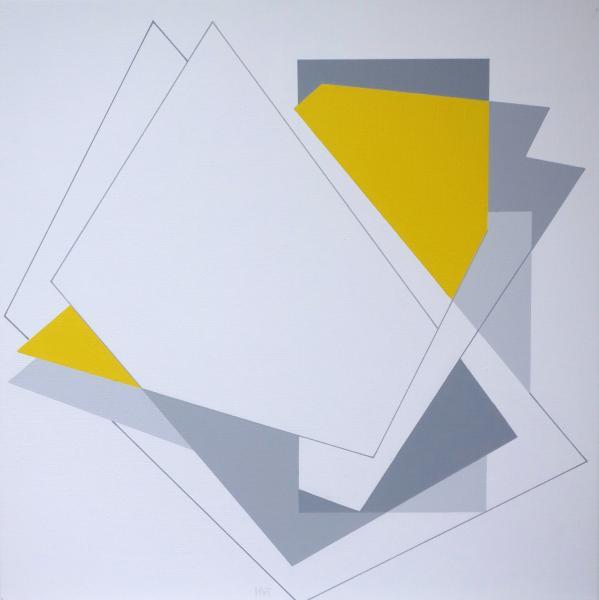 compositie zonder titel, nr. 2014-9. 50 x 50 cm.