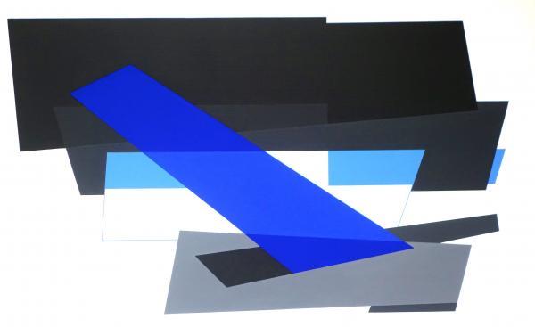 compositie zonder titel, nr. 2014-10  , 90 x 55 cm.