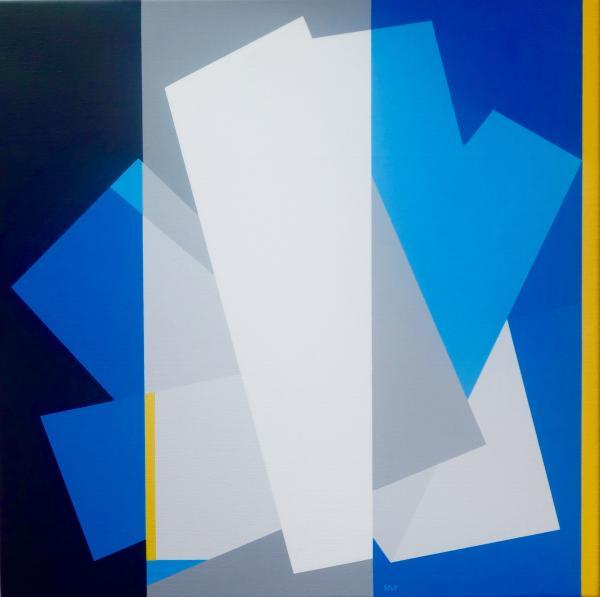 compositie zonder titel nr. 2015-5, 70x70cm.