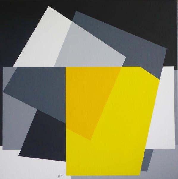 compositie zonder titel, nr.2016-1, 70x70 cm.