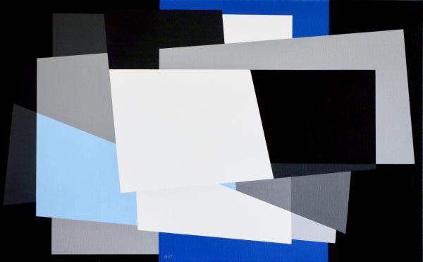 comp. zonder titel nr. 2016-12, 50 x 70 cm.
