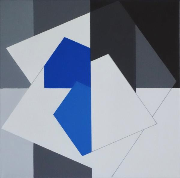 comp. zonder titel nr. 2016-13, 30 x 30 cm.