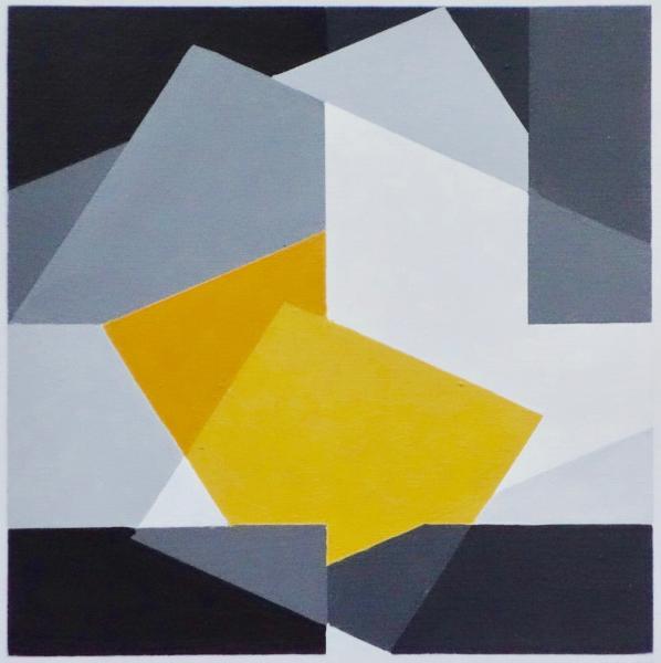 comp. zonder titel, nr. 2016-14 op papier, 15 x 15 cm.