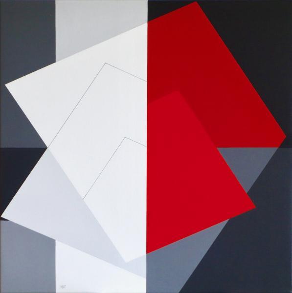 comp. zonder titel, nr. 2016-15,  op papier, 15x 15  cm.