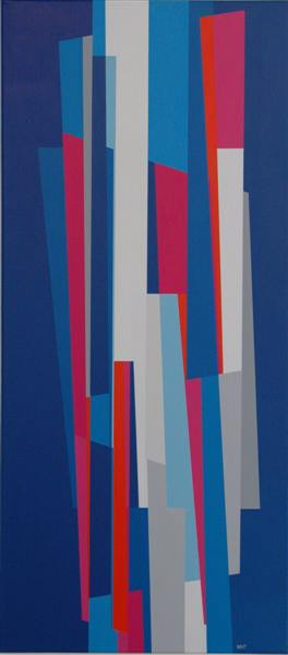 compositie zonder titel nr.2007-10 ,100x60cm.