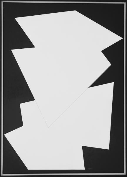 comp. zonder titel nr. 2017-11, 50 x 70 cm.