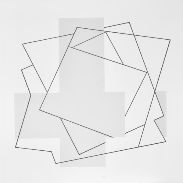 comp. zonder titel nr. 2017-18, 60 x 60 cm.