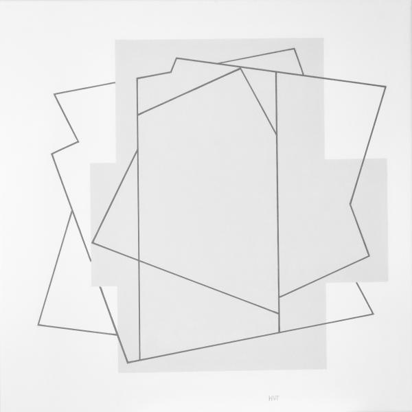 comp. zonder titel nr. 2017-16, 60 x 60 cm.