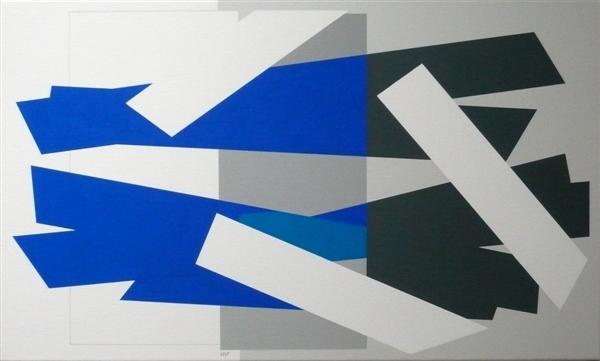 compositie zonder titel, nr.2008-3,100x60 cm.