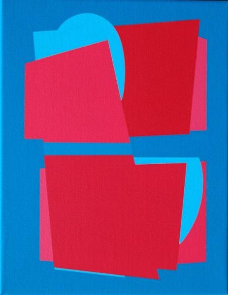 compositie zonder titel nr.2008-5 , 35x45 cm.