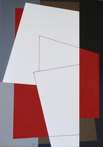 compositie zonder titel nr. 2018-1, 70 x 50 cm.