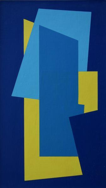 compositie zonder titel nr. 2018-3, 30x18 cm.