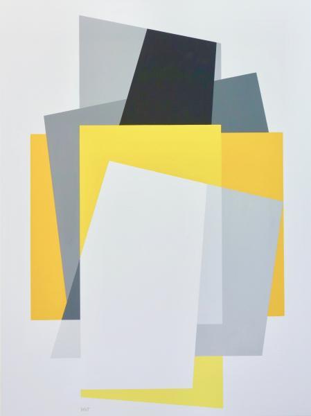compositie zonder titel nr. 2018-4, 60 x 80 cm.