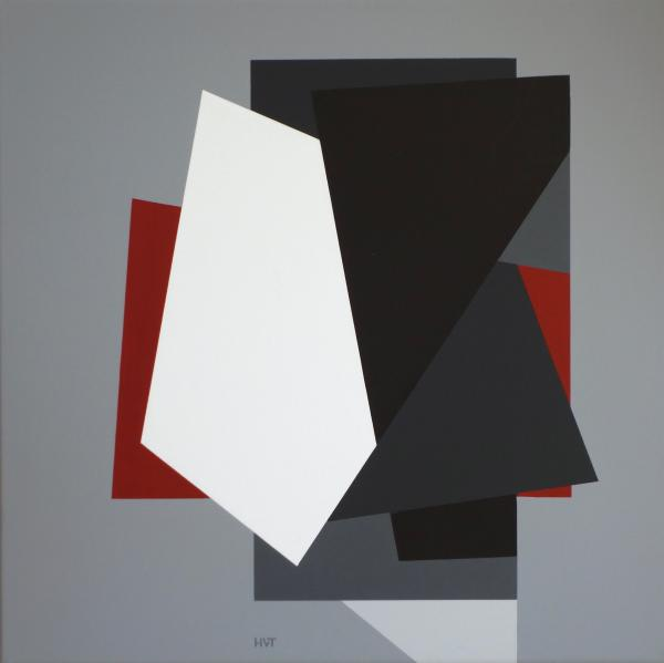 compositie zonder titel nr. 2018-5, 50x50cm.