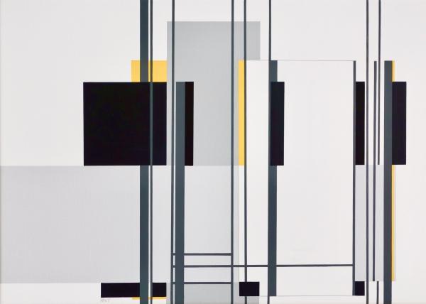 compositie zonder titel nr. 2018-8, 50x70cm.