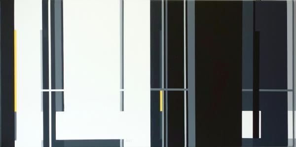 compositie zonder titel, nr. 2018-9 , 30x60 cm.