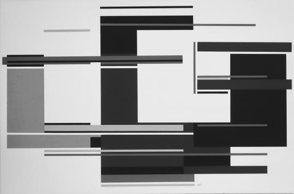 compositie zonder titel nr. 2018-12, 80x120 cm.