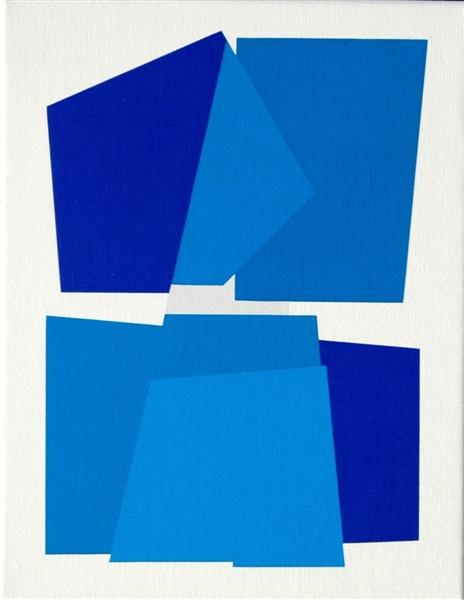 compositie zonder titel nr.2008-6 , 35x45 cm.