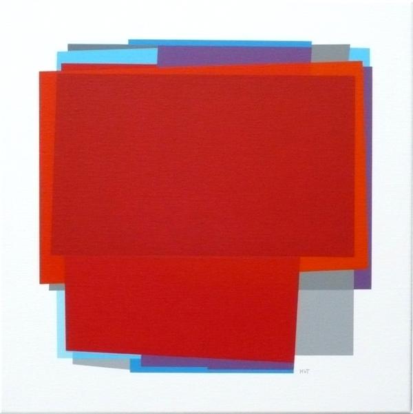 compositie zonder titel nr.2008-7 , 60x60 cm.