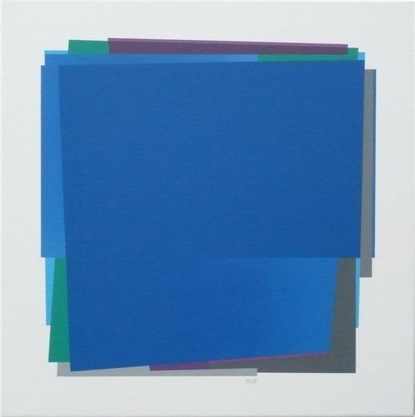 compositie zonder titel nr.2008-8 , 60x60 cm.