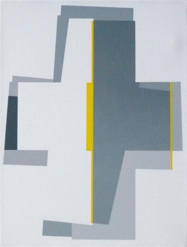 nr. 2009-1, compositie zonder titel, 30x40 cm.