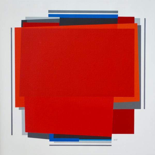 compositie zonder titel nr. 2019-17,   60x60 cm.