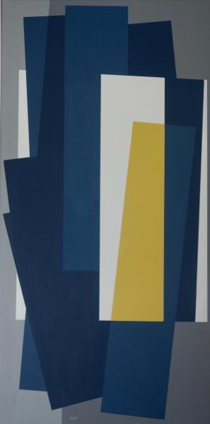 compositie zonder titel nr. 2019-19, 100x50 cm.