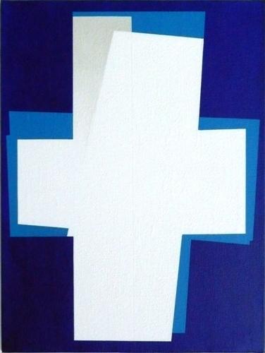 nr. 2009-2, compositie zonder titel, 30x40 cm.