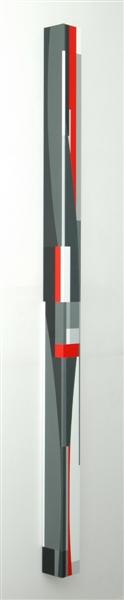 nr. 2009-9, compositie zonder titel, kolom, 210x 10x10cm