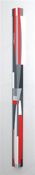 nr.2009-9, compositie zonder titel, kolom, 210x10x10cm.