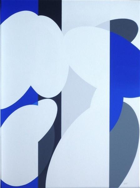 compositie zonder titel, nr.2010-9, 60x80 cm.