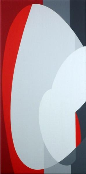 compositie zonder titel, nr 2011-1, 30x60 cm.