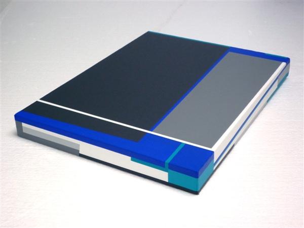 compositie zonder titel, nr 2011-2 D, 30x40 cm.