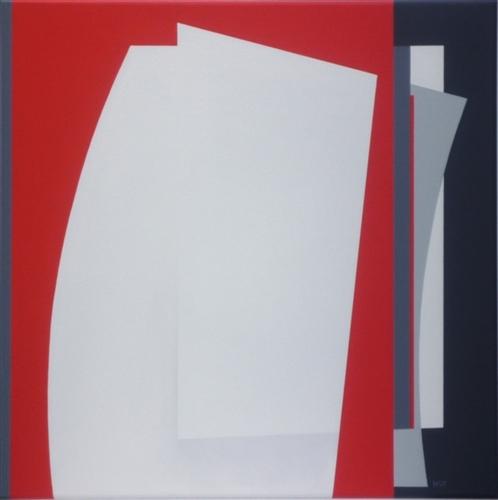 compositie zonder titel,nr. 2011-3, 60x60 cm.