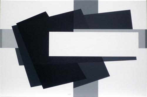 compositie zonder titel, nr. 2011-6, 60x40cm.
