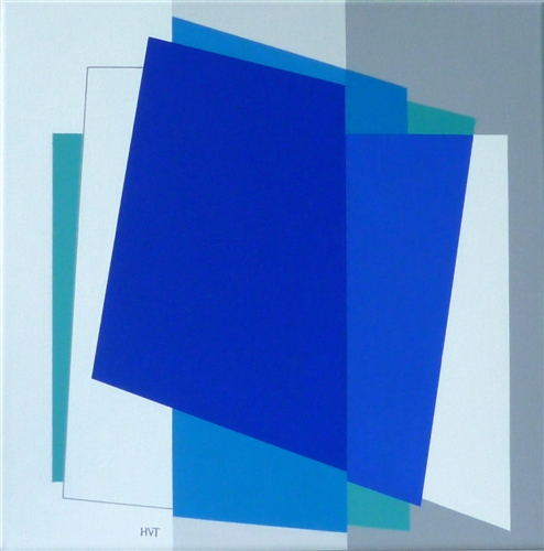 compositie zonder titel, nr. 2011-8, 40x40cm.