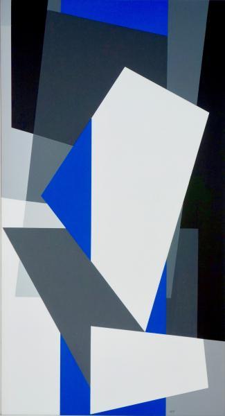 nr.2021-7, compositie zonder titel, acryl op linnen, 60 x 110cm.
