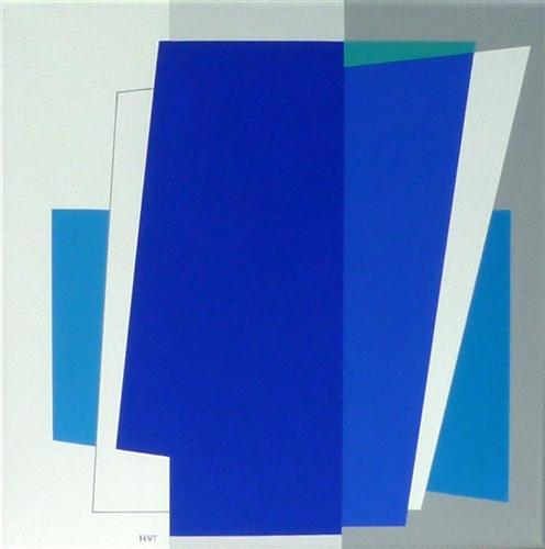 compositie zonder titel, nr. 2011-10, 40x40cm.