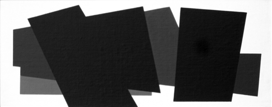 compositie zonder titel,nr. 2011-12, 15 x 28 cm. acryl op linnen