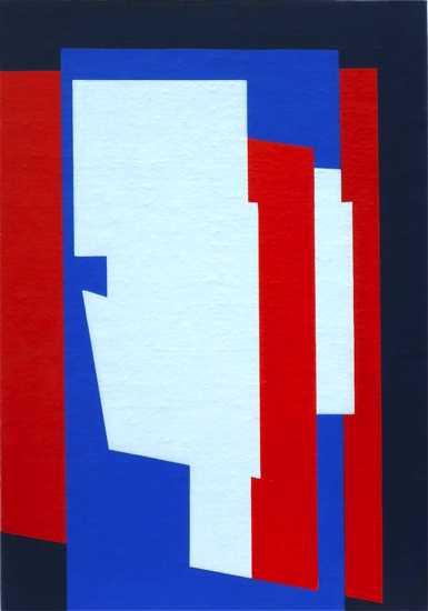 compositie zonder titel, nr. 2013-4 ,  35,8x25,2 cm.