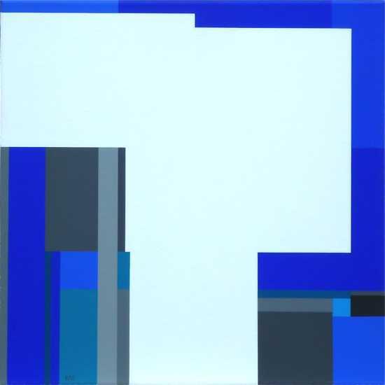 compositie zonder titel, nr. 2013-6,  60x60 cm.